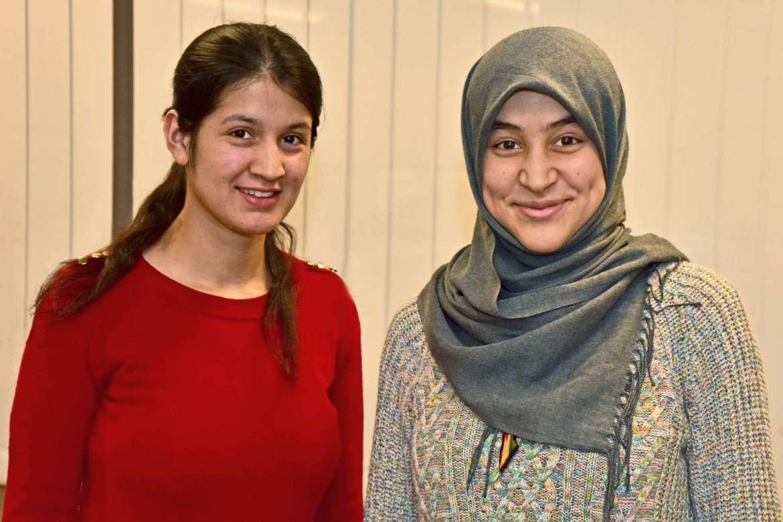 Pictured (l. to r.) Saliha Saliha Nawaz, from Ghizer Gilgit, Pakistan, and Imen Bouhestine, of Tunis, Tunisia.