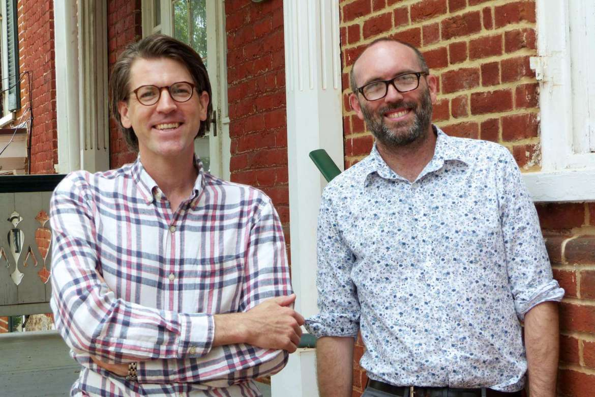 Dr. James Broomall (left), director of the George Tyler Moore Center for the Study of the Civil War, and Dr. Benjamin Bankhurst, assistant professor of history.