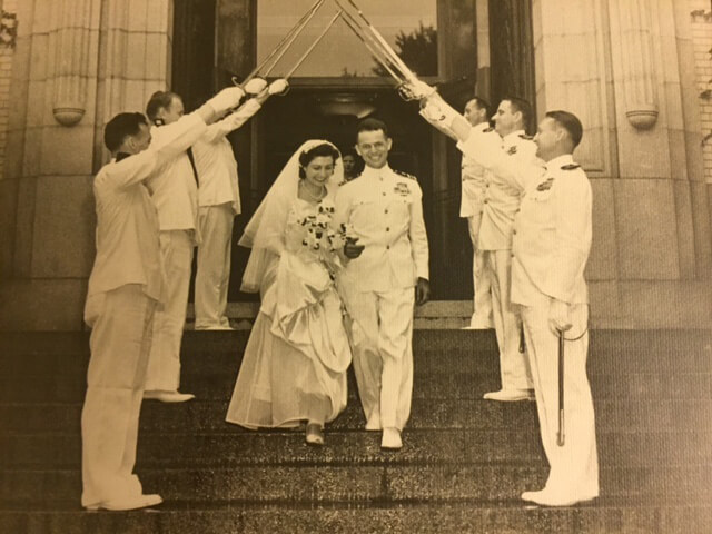 Shepherd President Mary J.C. Hendrix's parents, Charles N.G. and Jessie Hendrix, were married in the U.S. Naval Academy Chapel in 1946.
