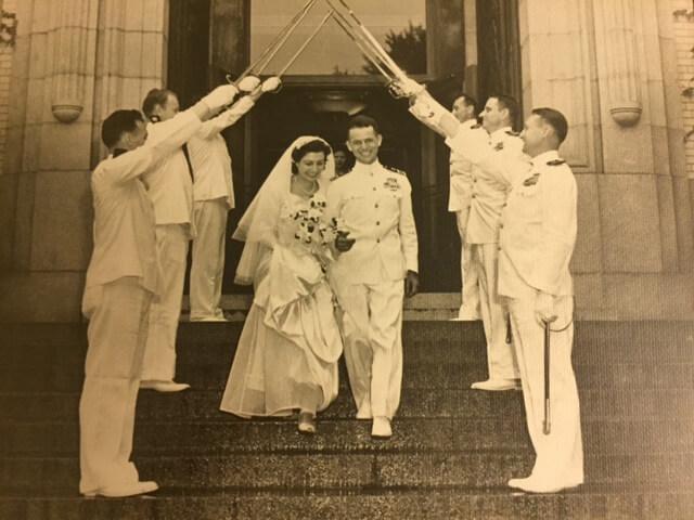 Shepherd President Mary J.C. Hendrix's parents, Charles N.G. and Jessie Hendrix, were married in the U.S. Naval Academy Chapel in 1946.