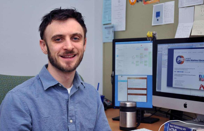 Dr. Matt Kushin, professor of communication