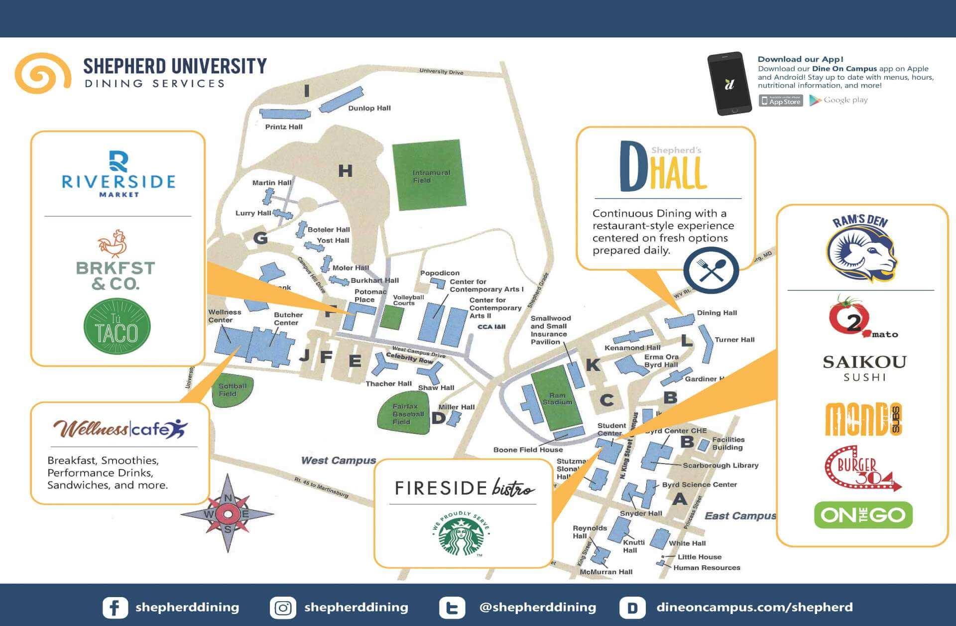 shepherd university campus map Zip Code Map Shepherd University Campus Map shepherd university campus map