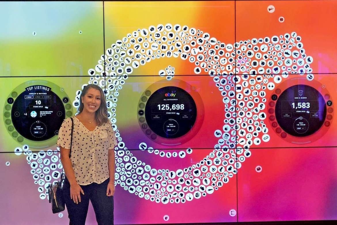 Mia Holland, a communication and new media major from Harpers Ferry, visited eBay during a recent trip to San Francisco organized by the National Millennial Community.