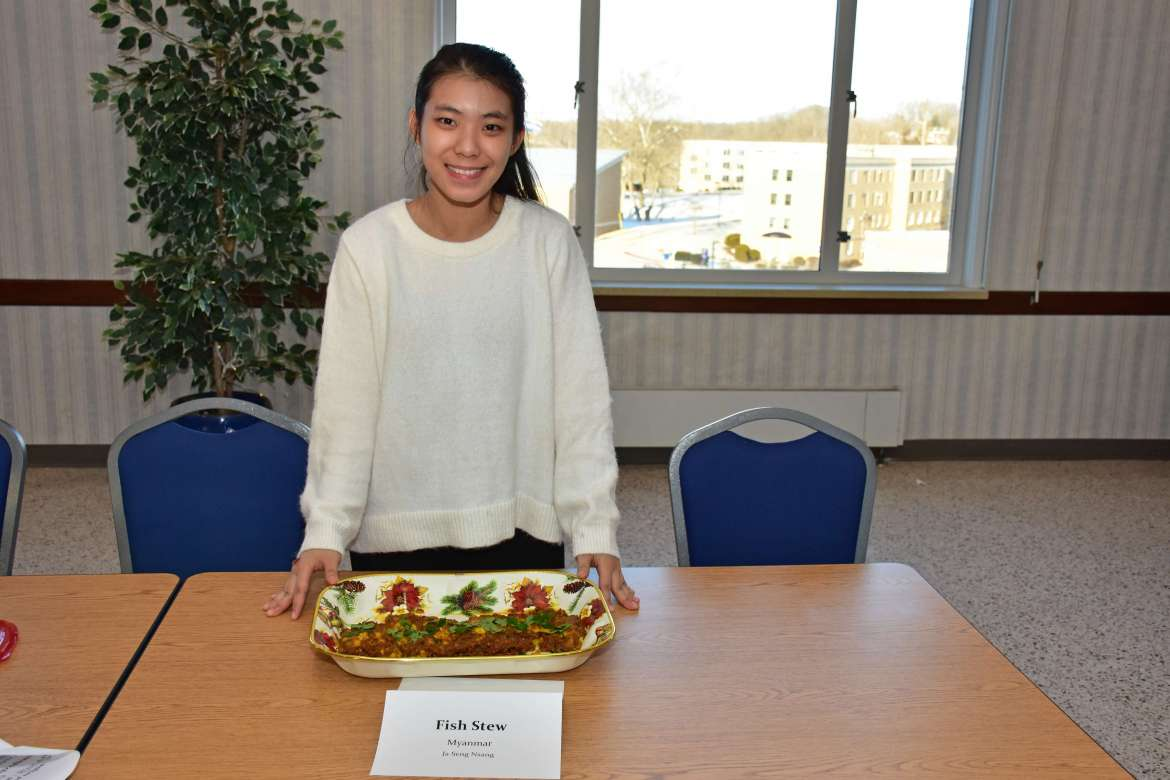 Ja Seng Nsang, a business administration major from Myanmar, won first place and a $50 prize.