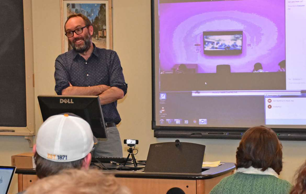 Dr. Benjamin Bankhurst, assistant professor of history, teaches a 2019 American Revolution class that focuses on the Maryland Loyalism Project.