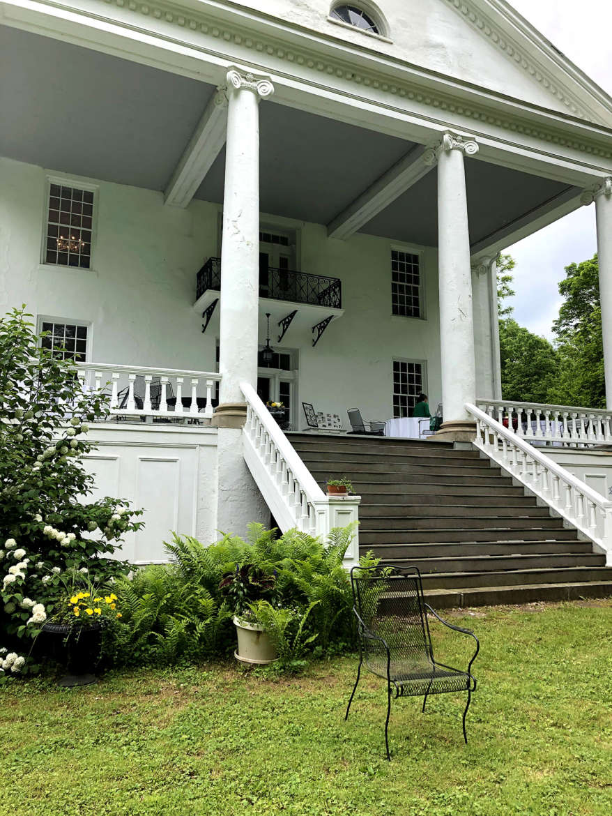 Falling Spring, built in the 1830s by Jacob Morgan, is one of the most historic places in Jefferson County. The front porch of the house overlooks a wide span of lawn that travels down to Morgan's Spring, where the original stone house built in the 1700s by Richard Morgan still exists today.