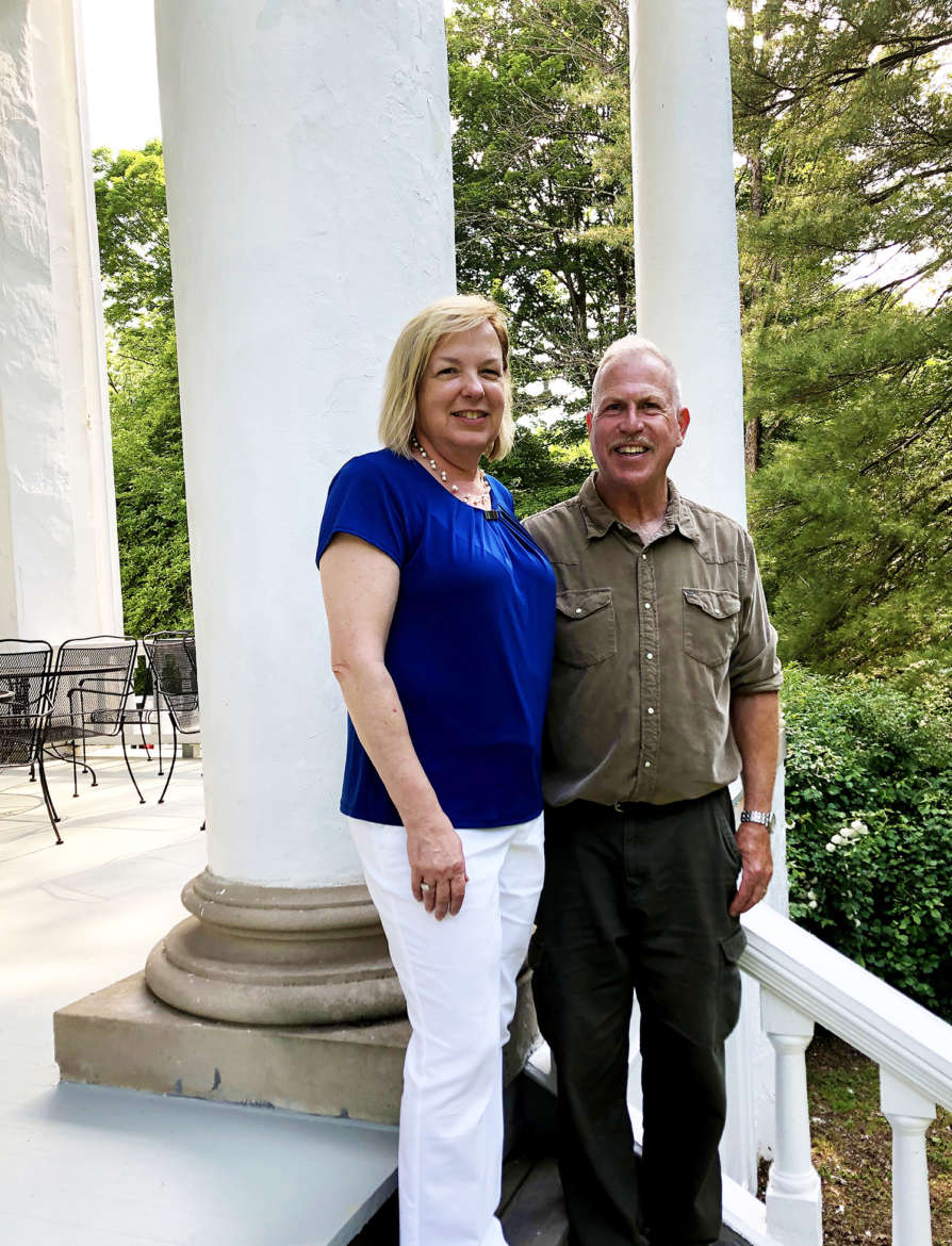 Since 1904, Falling Spring has passed from the Morgan family to several other families and is currently owned by Lorri and Ed Schwartz (pictured). The Schwartzes are both graduates of the Shepherd University Class of 1984.