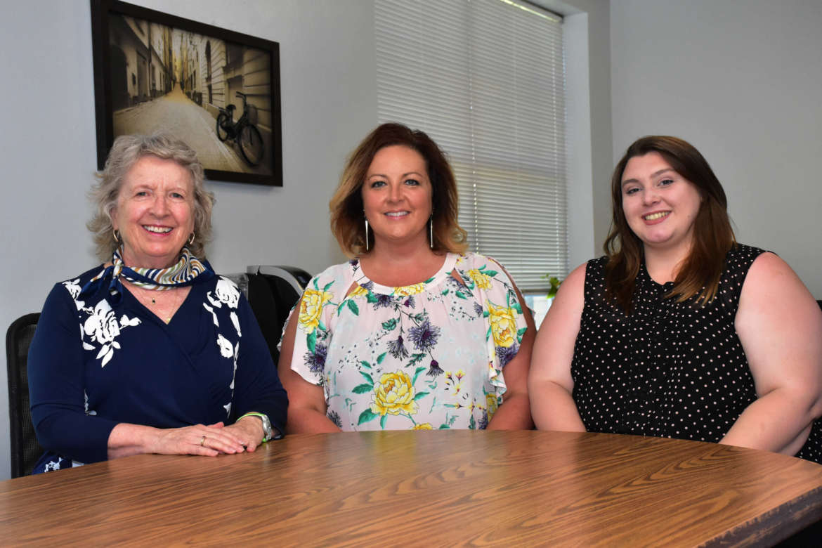 Pictured (l. to r.) are Dr. Virginia Hicks, Shepherd assistant provost for academic community outreach; Tara L. Davis, an autism specialist with the Autism Training Center; and Hannah Brumbaugh, a graduate assistant for academic community outreach.