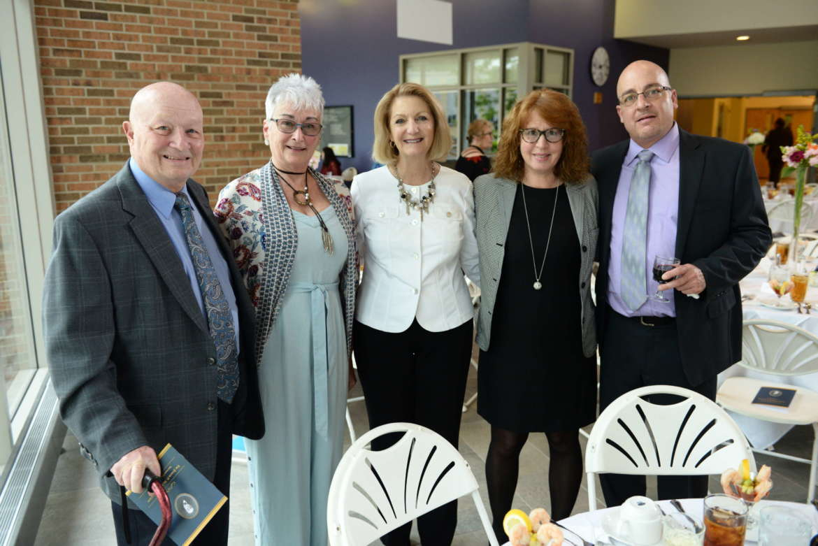 Pictured in May at the annual Joseph P. McMurran Society dinner reception are (l. to r.) Dr. Joseph J. Renn III, Robin L. Renn, Monica Lingenfelter, executive vice president of the Shepherd University Foundation, daughter Jodie Ciarrafo, and son Joseph Renn IV.