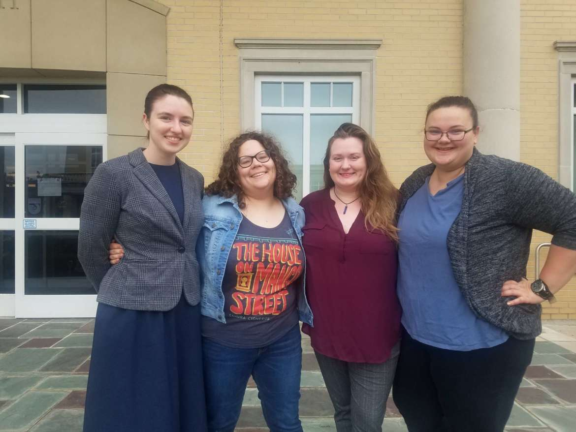 Pictured (l. to r.) are Linnea Meyer, Claudia McCarron, Caitlyn Sheets, and Gabrielle Hersey.