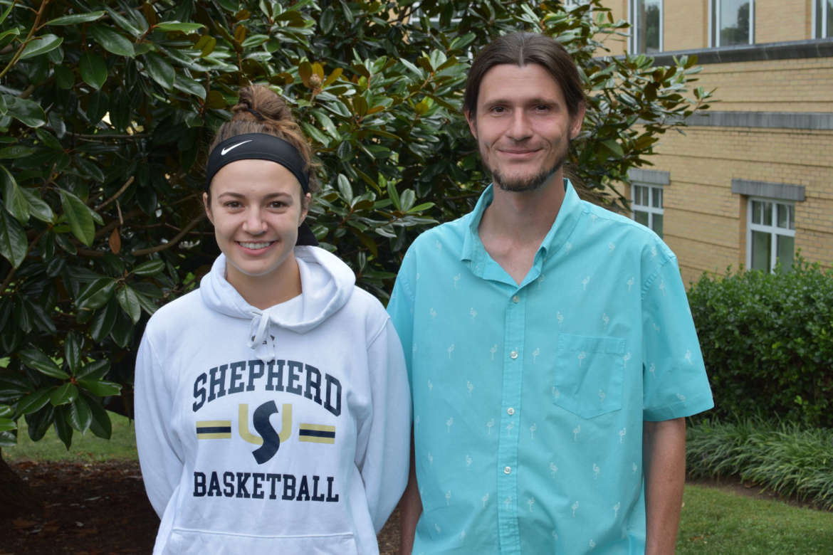 Pictured (l. to r.) are Madison White and Johnnie Meredith.