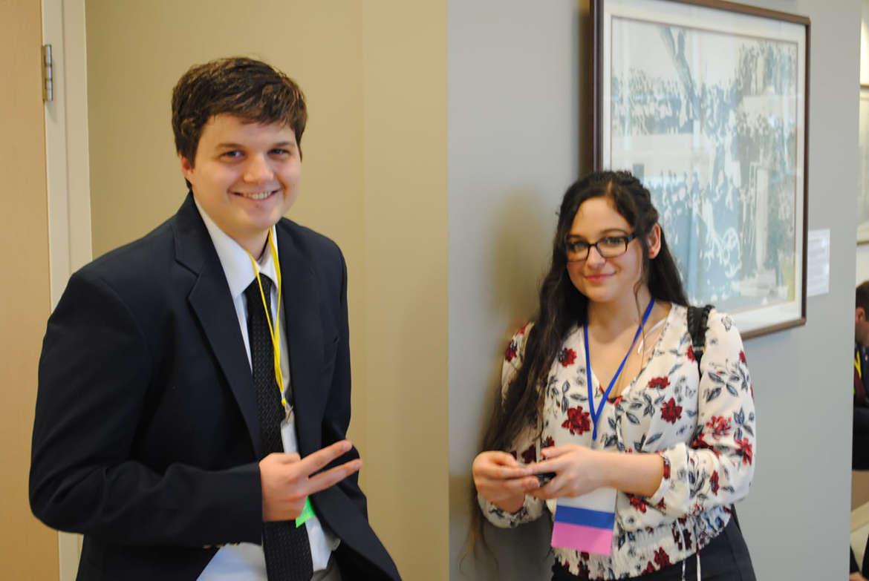 Pictured (l. to r.) are Jacob Klepp-Egge and Bridgette Aguilar-Dishman.