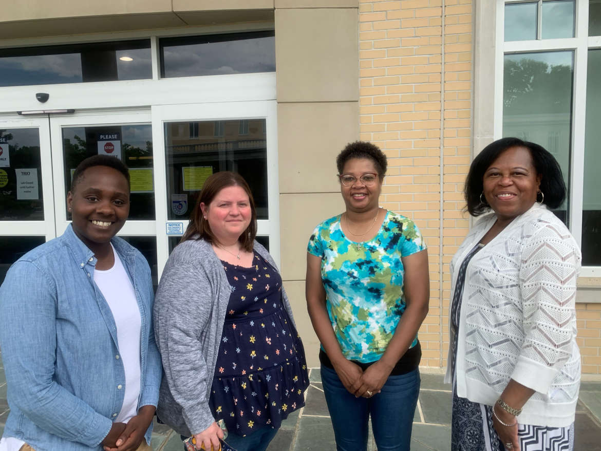 Pictured (l. to r.) are Mary Butler, TRIO academic retention specialist; Michelle Ricketts, TRIO SSS assistant director; LaJuan Curry, administrative assistant; and Cynthia Copney, TRIO programs director.