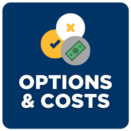 Button to housing and meal plan options and cost