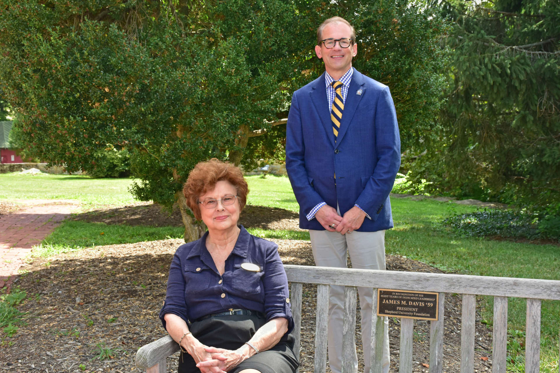 Pictured are (seated) Dr. Sylvia Bailey Shurbutt, director, Center for Appalachian Studies and Communities, and Dr. Scott Beard, provost.