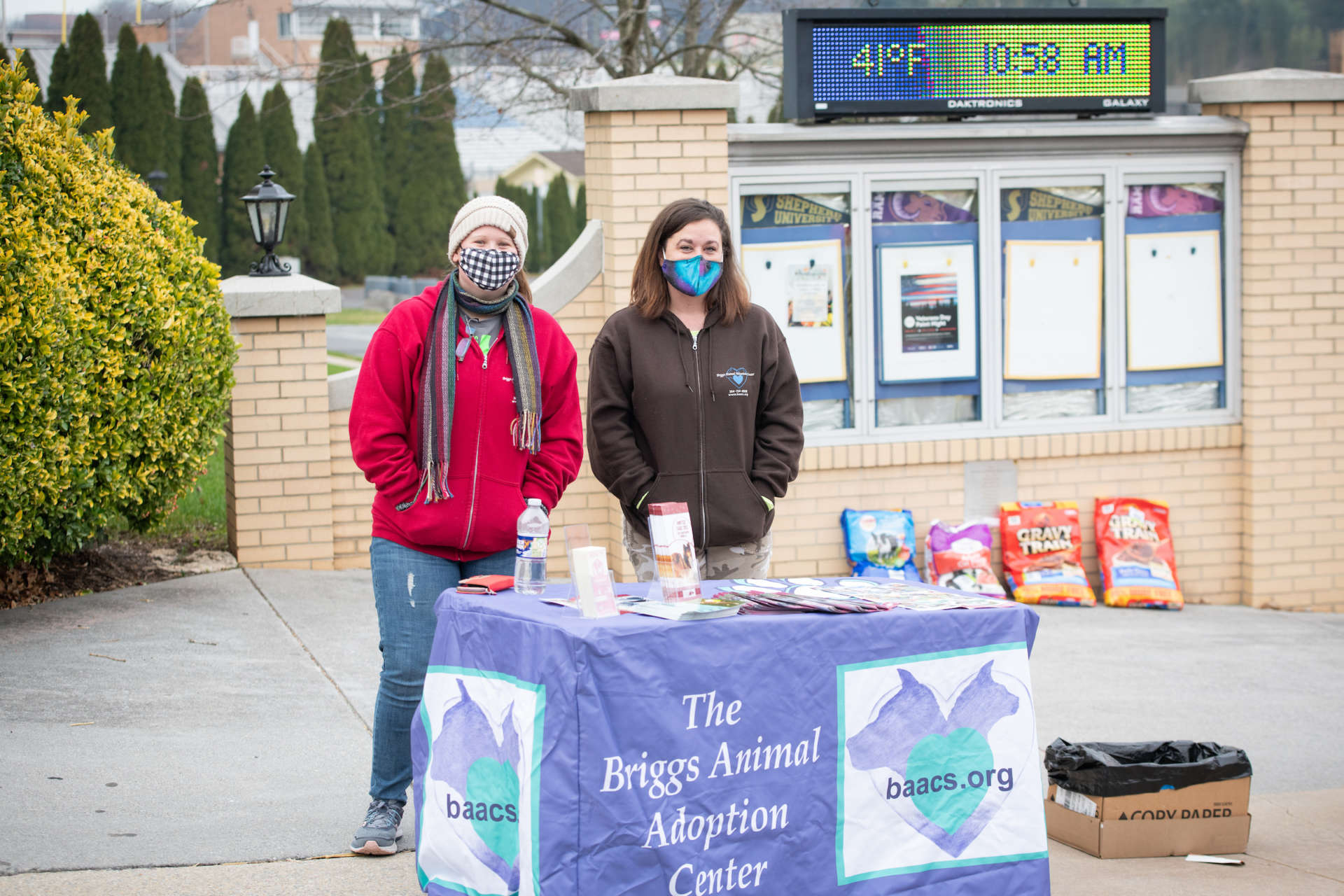 Pictured (l. to r.) are Hayley Miller and Megan Hessenberger from Briggs Animal Adoption Center.