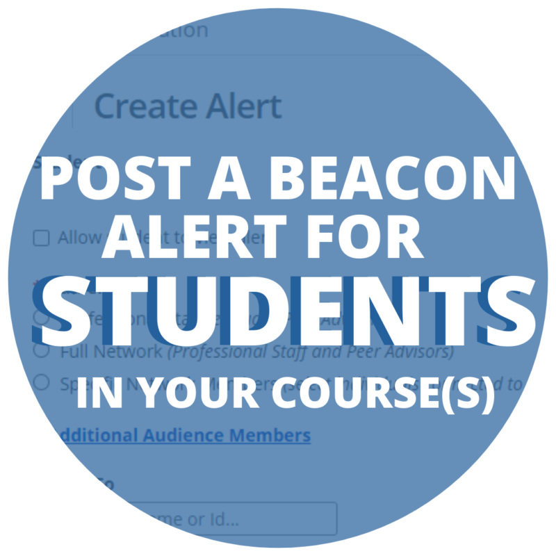 Post an Alert for Students In Your Courses