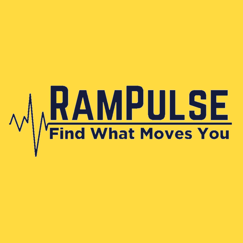 yellow background, in the center is the Rampulse logo