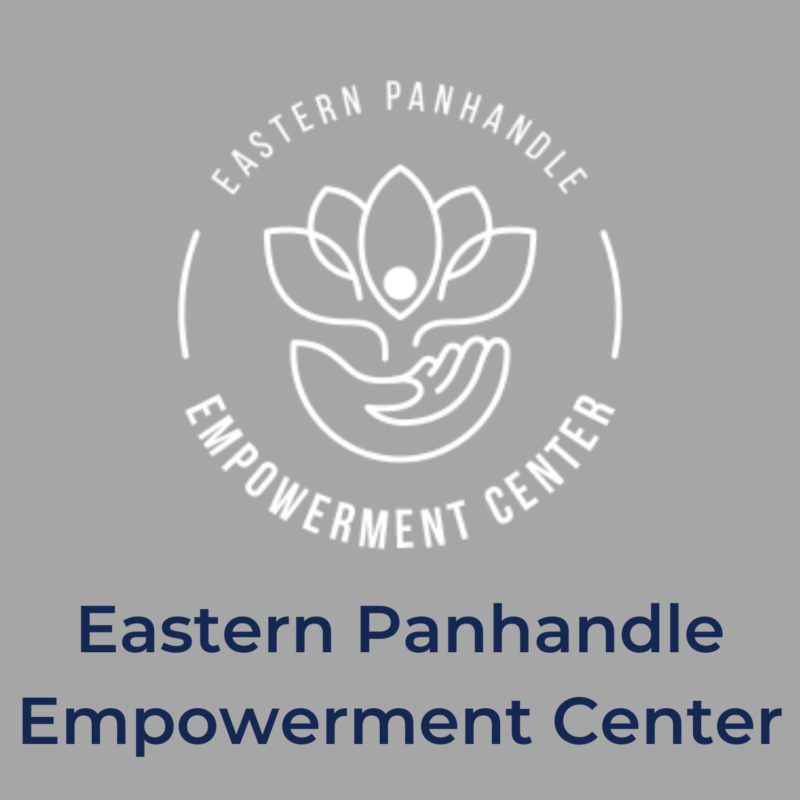"""gray background, in the center is the EPEC logo, and below it reads """"eastern panhandle empowerment center"""""""