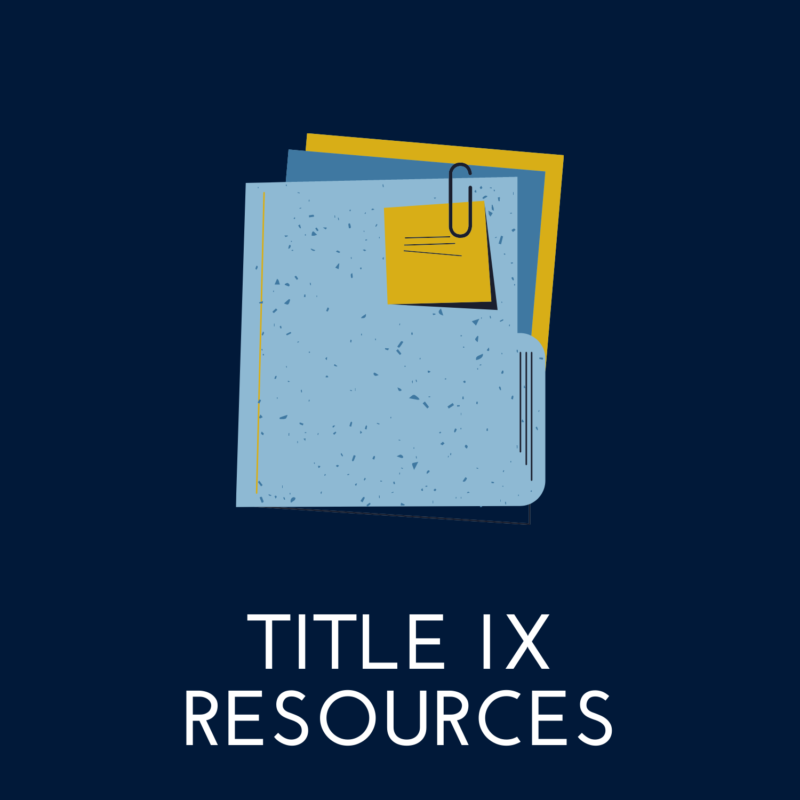 """blue background, in the center is a folder, it reads """"title nine resources"""""""