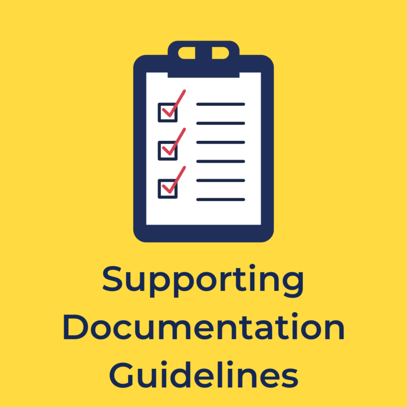 supporting documentation guidelines