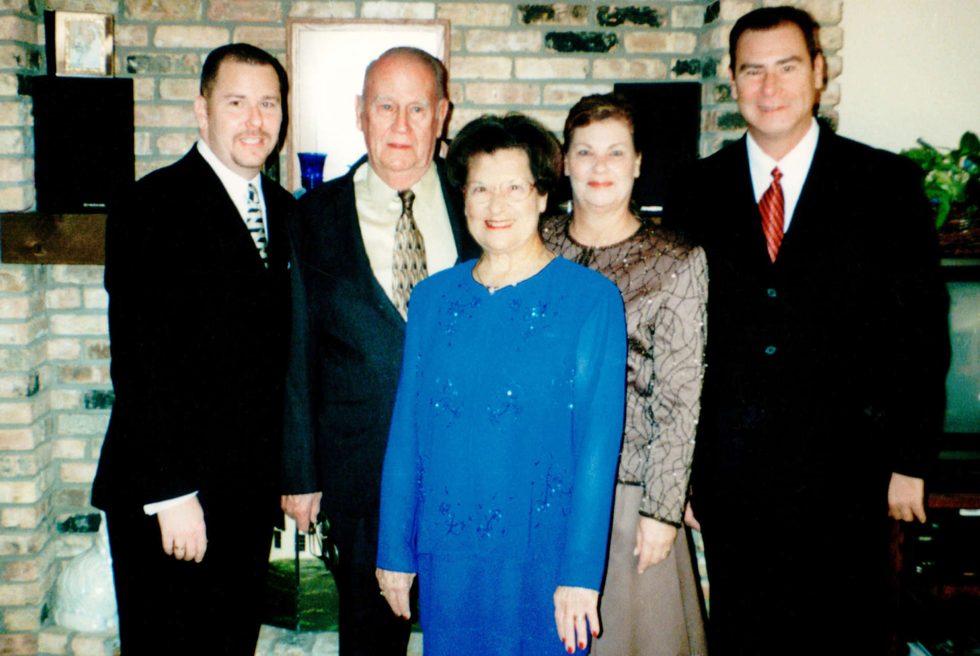 The Best family in 2001. (pictured l. to r.) Christopher Oland Best, Preston E. Best, Sr., June Oland Best, Catherine Rebecca Stiele, and Preston E. Best, Jr.