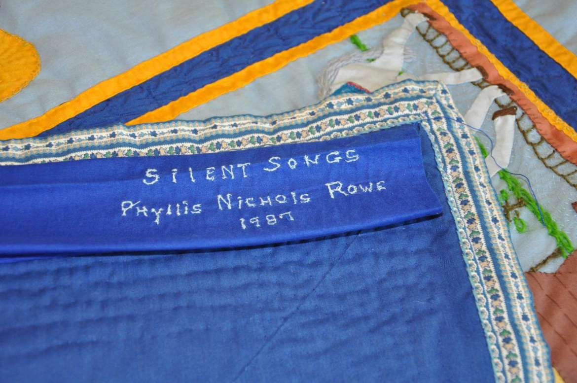 The Silent Songs, made by Phillis Nichols Rowe.
