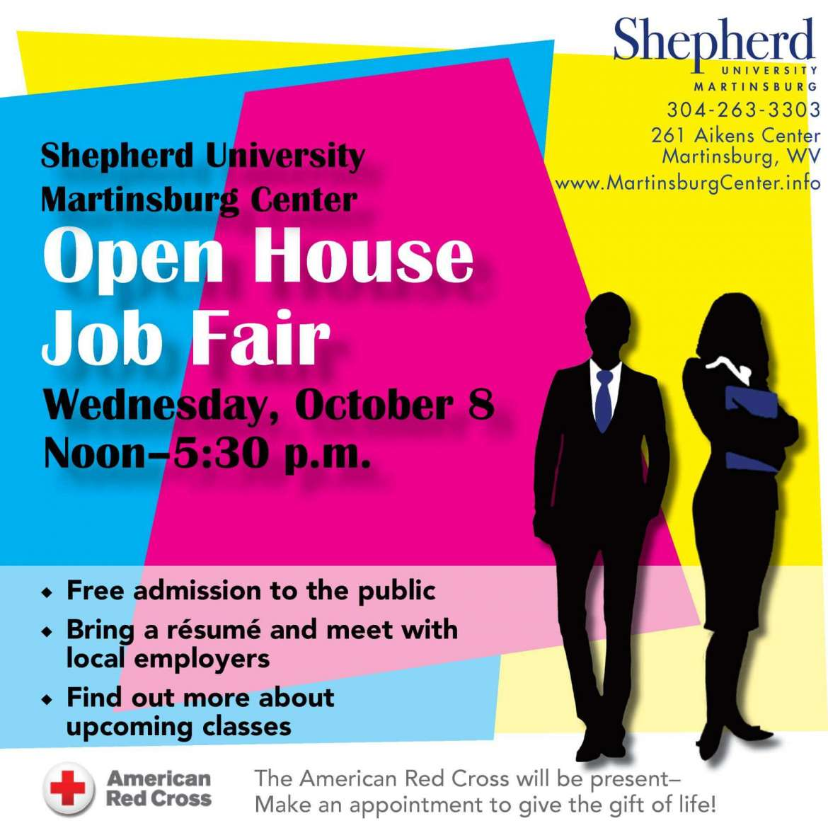 Martinsburg Center will host a job fair and open house Wednesday, October 8 from noon-5 p.m.