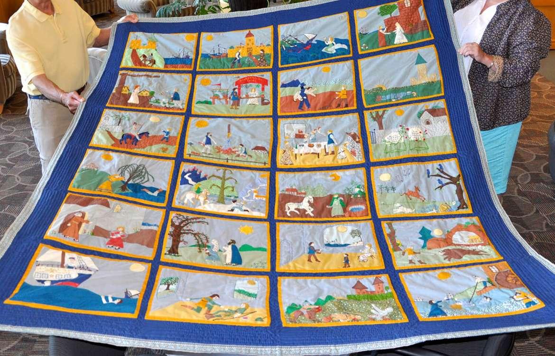 Handmade Appalachian quilt side B, made by Phyllis Nichols Rowe.