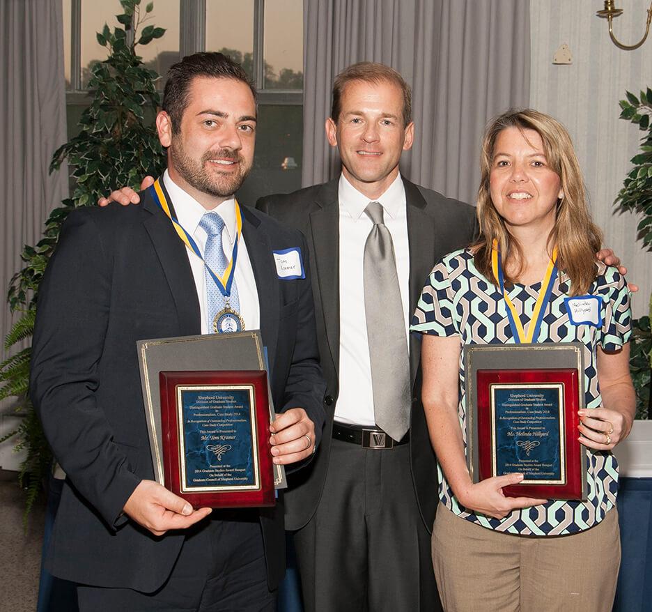 Professionalism case study award honorees: Tom Kramer and Melinda Hillyard.