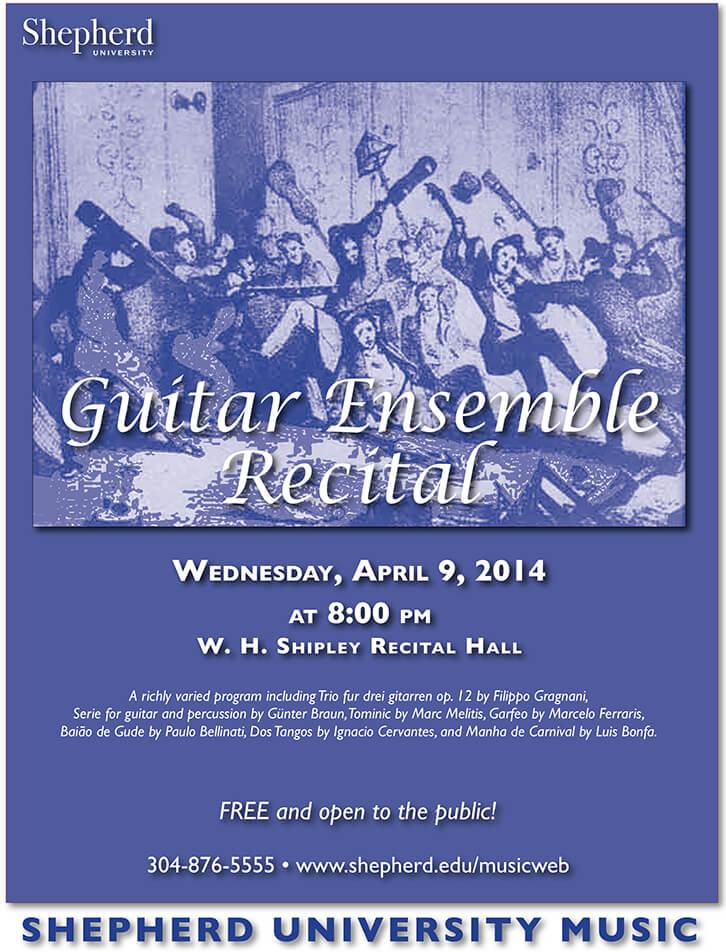 Guitar ensemble recital