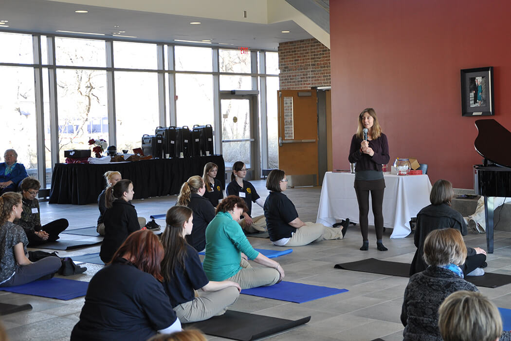 Yoga instructor Lucetta Jenkins