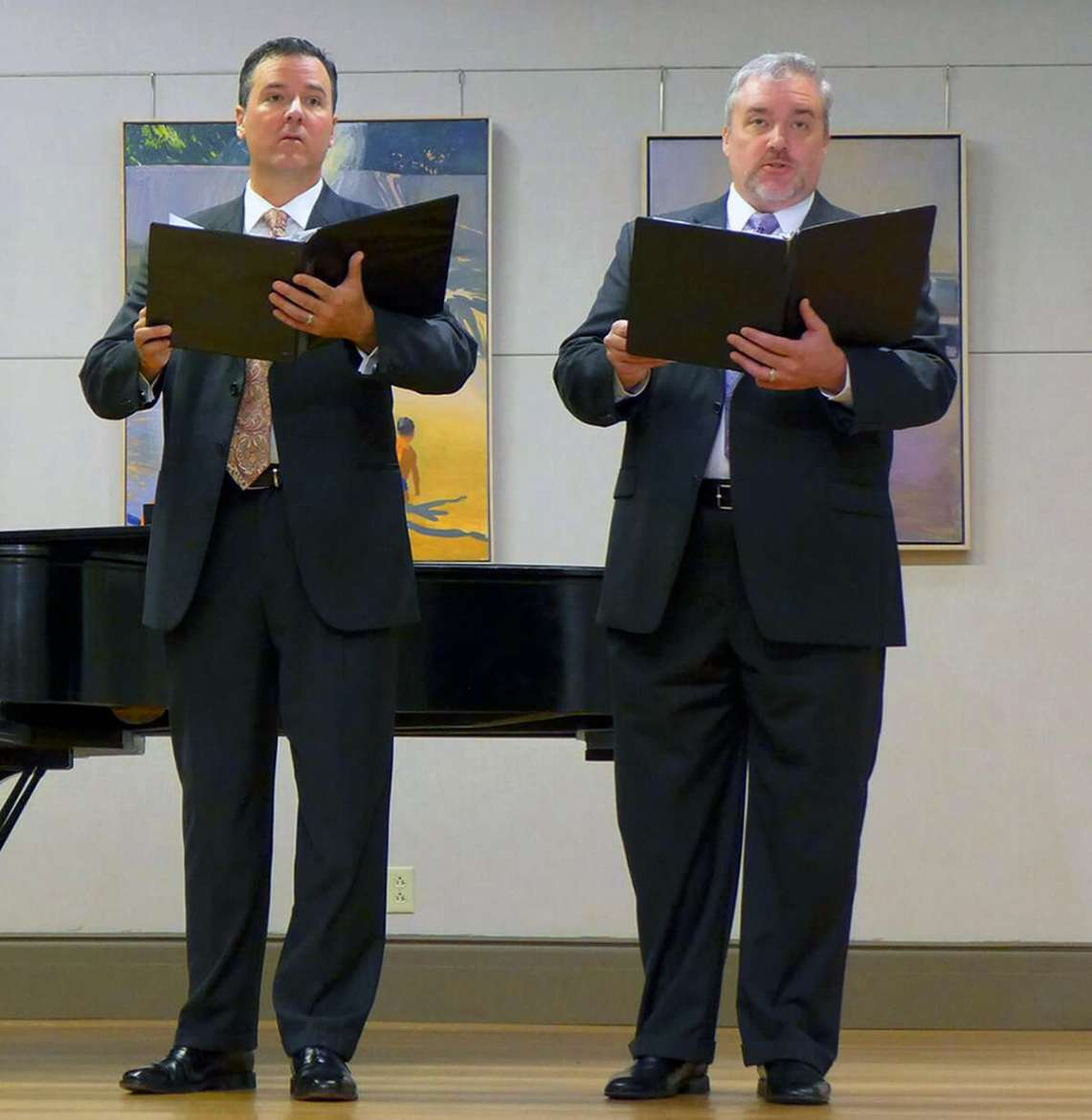 Dr. Robert Tudor, associate professor of music and chair of the Department of Music, and Dr. Bobb Robinson, adjunct music faculty
