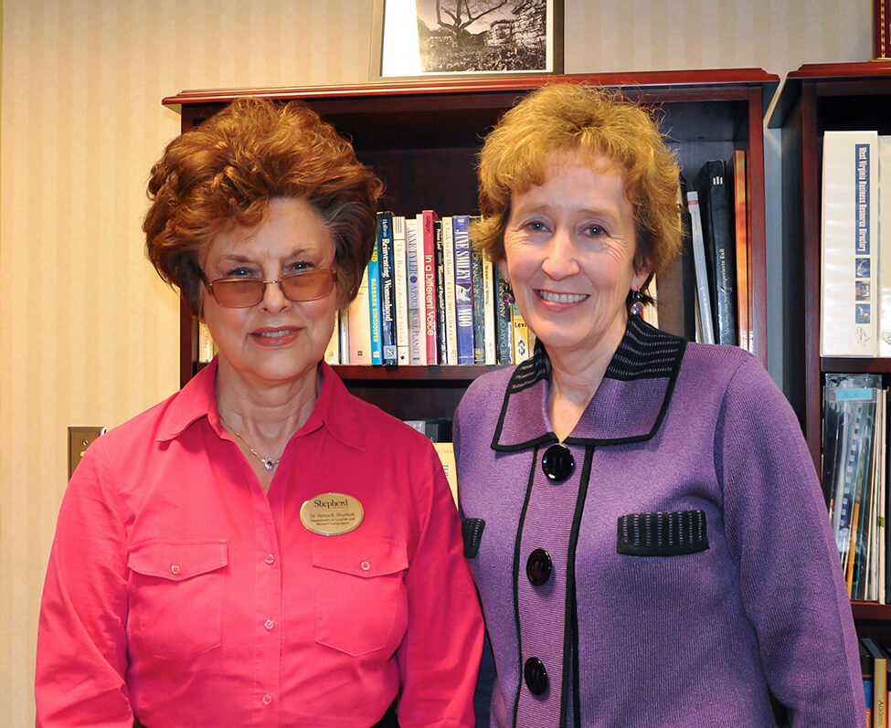Dr. Sylvia Bailey Shurbutt and President Suzanne Shipley